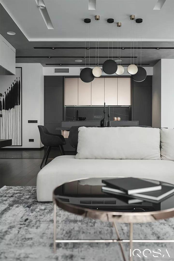 极致现代,一个高级质感的家!-设计中国